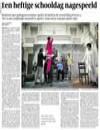 Volkskrant, november 2010 - Perron 4 een forumtheatervoorstelling met, voor en door jongeren over het Cluster 4 onderwijs